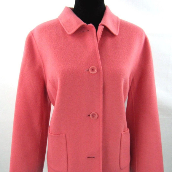 8d97c73498ea2 New Talbots Coral Double Faced Wool Jacket Size 16
